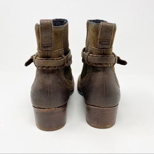 UGG Shoes - UGG Krewe Boots 10 Brown Leather Harness Moto Cozy